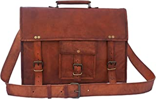 15 inch Genuine Leather Messenger Bag - Crossbody Laptop Satchel by Rustic Town