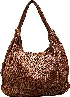 BZNA Bag Sanna cognac Italy Designer Damen Handtasche Schultertasche Tasche Leder Shopper Neu