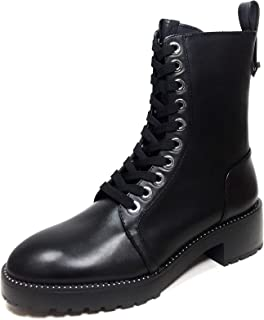 Women Micro-studded leather biker ankle boots 5164/301/040