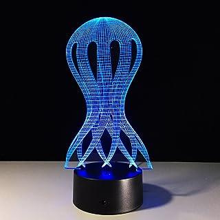 Méduse Lampe Octopus 3D Usb Led Visual Créatif Night Light To Sleep Lampe De Table Décoration Lampe Décoration Lumière Acc...