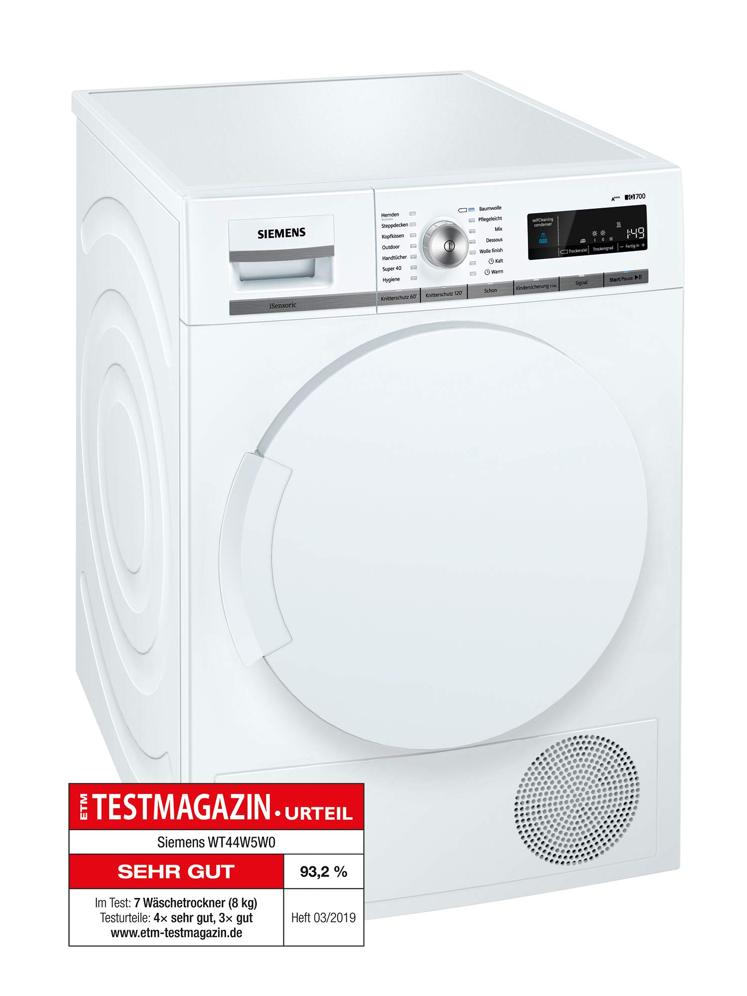 Siemens WT44W5W0: Amazon.es: Grandes electrodomésticos
