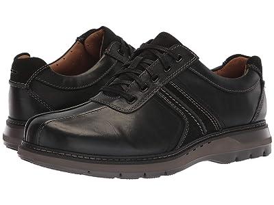 Clarks Un Ramble Go (Black Leather) Men