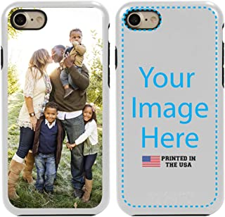 Guard Dog Custom iPhone 7/8/SE Cases Personalized - Make Your Own Protective Hybrid Phone Case. (White, Black)