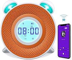 Danolt - Reloj Despertador para niños, Cargador USB, Reloj Despertador Inteligente para Dormitorio, 7 Colores, luz...
