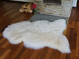 Organic Comfort Market Genuine Real Sheepskin Lambskin Dog Bed Mat Area Rug Single Pelt Hide Large