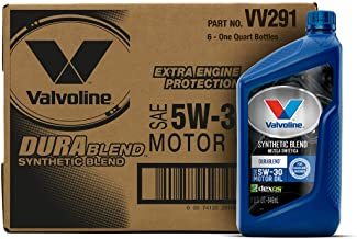 Valvoline DuraBlend SAE 5W-30 Synthetic Blend Motor Oil 1 QT, Case of 6
