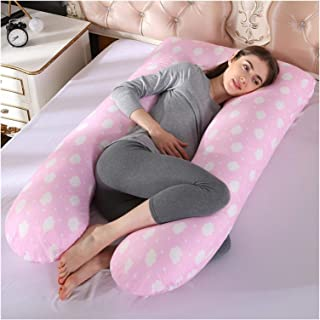 AQHXLS Sleep Support Maternity Pillow, U-Shaped Cotton Pillowcase, Maternity Pregnancy Pillow Side Pillow Bedding (Color :...