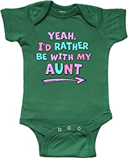 Inktastic Yeah I'd Rather Be with My Aunt in Pink Blue and Purple Infant Creeper