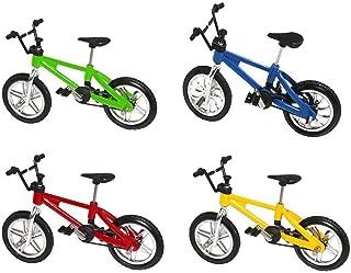 Alloy Finger Bicycle BMX Kids Toy Finger Board Creative Orange+Black+Yellow