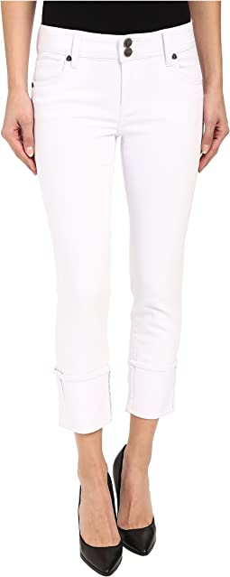 KUT from the Kloth - Cameron Straight Leg Jeans in Optic White