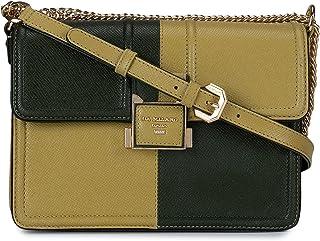 Da Milano Dual tone Green Leather Sling Bag
