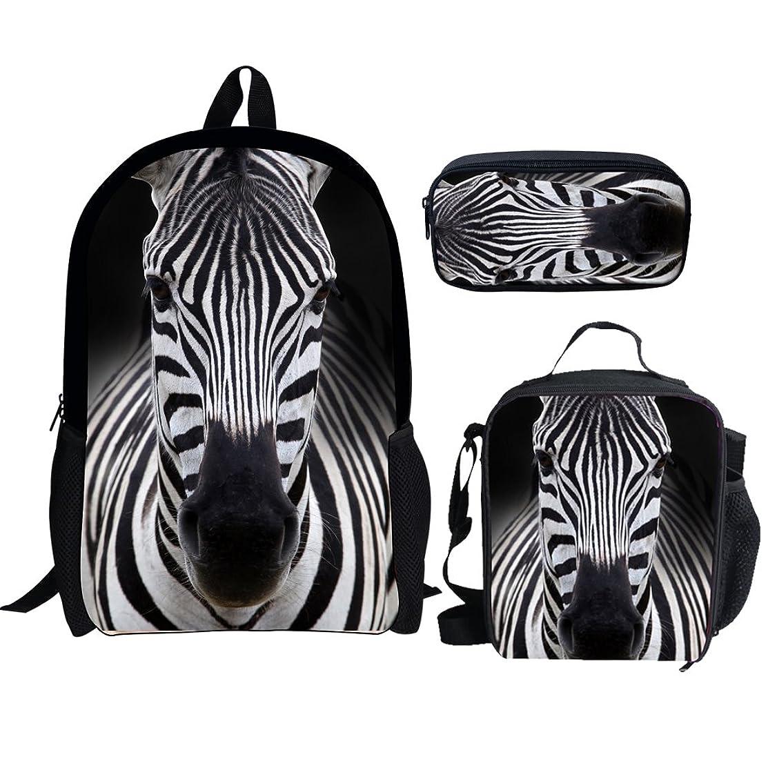 Bigcardesigns Little Kids School Bags Set Backpack Lunch Bag Pencil Case 3 Pieces