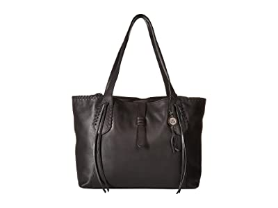 The Sak Heritage Leather Tote (Black) Tote Handbags