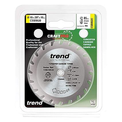 TREND 85MM X 20T TCT SAW BLADE TITAN 689CSW EINHELL CS860 SKIL 5330AR CSB//8520