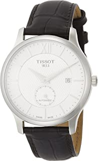 Tissot T-Classic Tradition Automatic Mens Brown Leather Watch T063.428.16.038.00