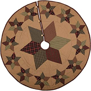 VHC Brands Traditional Christmas Decor Kilton Cotton Hand Quilted Patchwork Star 50
