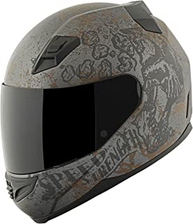 Speed and Strength SS1200 Rust and Redemption Matte Black Full Face Helmet - X-Large