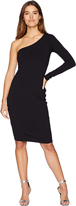 Long Sleeve One Shouldered Dress