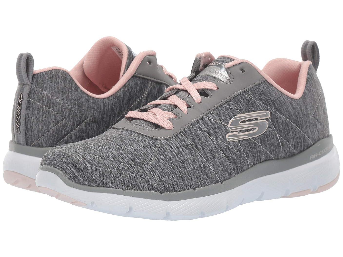 人類条約盆地レディーススニーカー?ウォーキングシューズ?靴 Flex Appeal 3.0 - Insiders Grey/Light Pink 7.5 (24.5cm) B [並行輸入品]