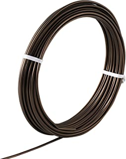 Hanafubuki Wazakura Japanese Bonsai Training Wire 6.0mm, Brown Anodized Coating Aluminum Made in Japan 150g - 3.93Ft(1.2m) 6.0mm