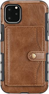 Leather Flip Case Fit for iPhone 11 Pro, brown Wallet Cover for iPhone 11 Pro