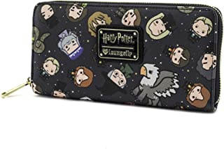 Harry Potter Chibi Character Print Wallet , Black , One Size