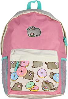 Cat Donuts Zipper Backpack with Front Pocket and Donut Charm