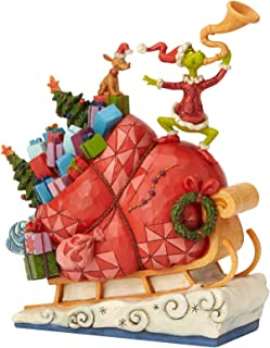 Enesco Dr. Seuss The Grinch by Jim Shore Sleigh Figurine, 9.13