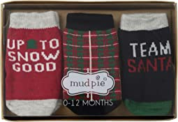 Christmas Team Santa 3-Pair Socks Set (Infant)