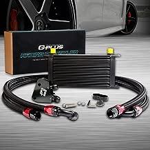 19 Row GM Aluminum Engine Transmission Oil Cooler Kit + Oil Cooler Sandwich Plate Fit For LS1 LS2 LS3