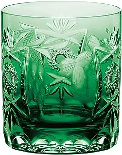 Nachtmann Vorteilsset 4 x 1 Glas/Stck Whisky pur 3263/9cm Traube smaragd 35897 und Gratis 1 x Trinitae Körperpflegeprodukt