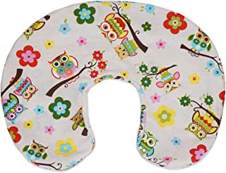 PEKITAS Breastfeeding Pillow Slipcover for 20x16x5.5 Inches, Cotton Soft, Breathable Anti-Suffocation, Tucked Zipper,Machine Washable, Cartoon Printing Ivory Owls