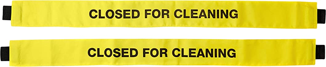 Haylins (2 Pack) Restroom Closed for Cleaning Sign with Magnetic Ends