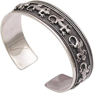 silver gecko bracelet