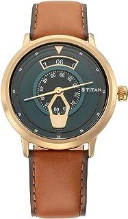 ساعة تيتان ماريتايم للرجال مينا خضراء - 1828QL01