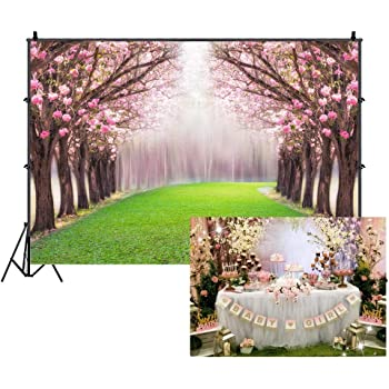 Floral 10x12 FT Backdrop Photographers,Watercolors Painted Violet Flowers Pattern Blooms Spring Nature Theme Background for Baby Shower Bridal Wedding Studio Photography Pictures