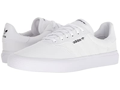adidas Skateboarding 3MC (White/White/Gold Metallic) Men