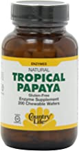 Country Life Papaya 22 Mg Chewable (per 4 Wafers), 200-Count