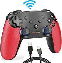 Winkeyes Switch Controller Wireless Pro Controller for Nintendo Switch Bluetooth Gamepad Remote Joypad Compatible with PC/PS3/Android Device, Supports Gyro Motion, Turbo and Dual Vibration, 3 D-Pads