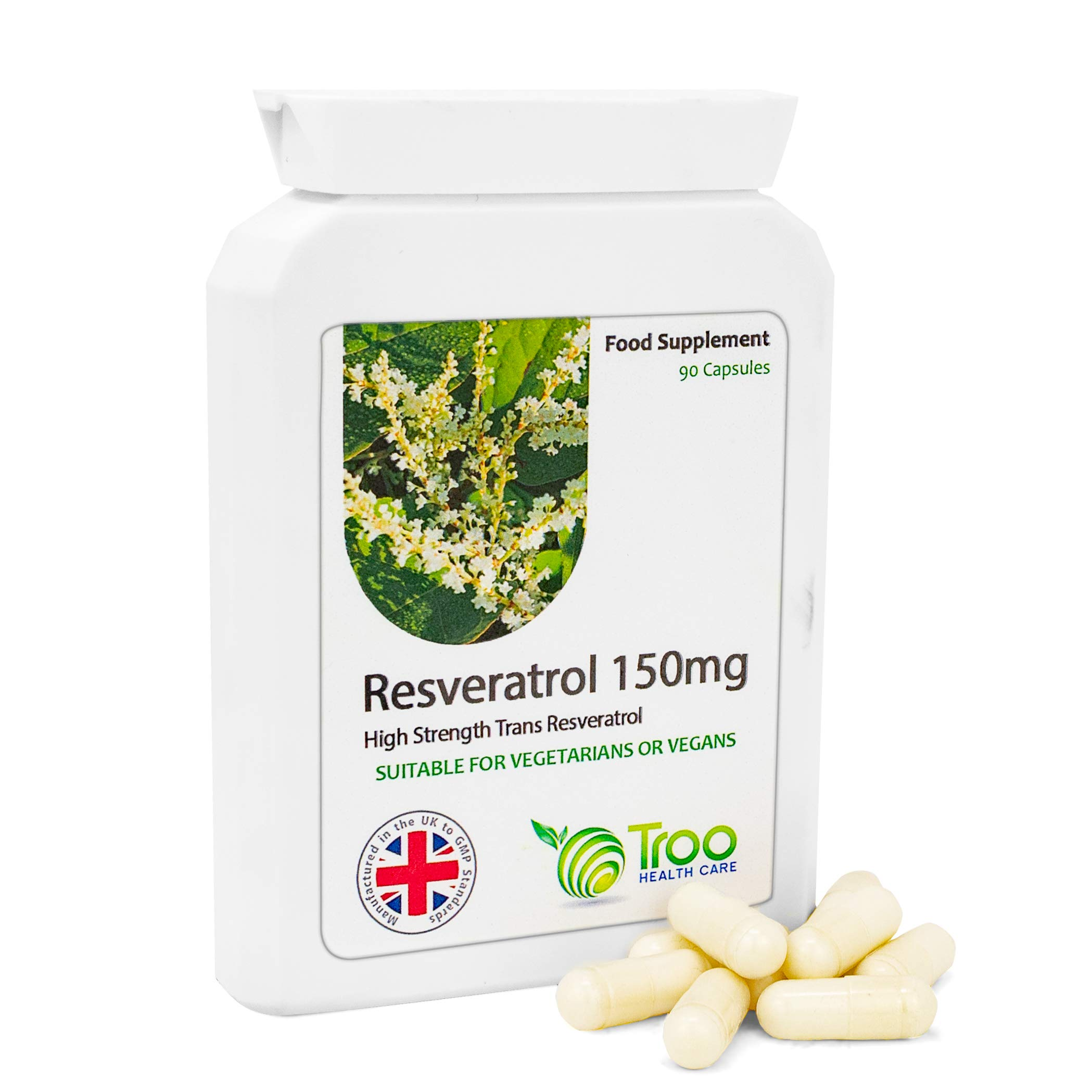 Resveratrol Supplement 150mg 90 Capsules Uk Manufactured To