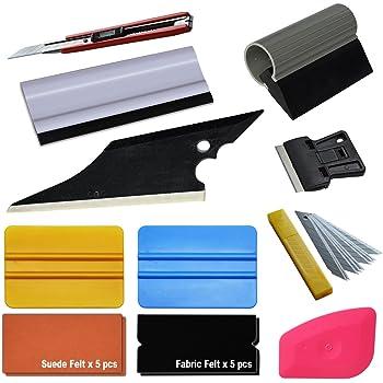 Applicateur de film de teinte raclette en feutre Kit dapplication de Film pour fen/être 9 PCS Outils de Teinture de Film de Fen/être de Voiture kit doutils denveloppe de vinyle