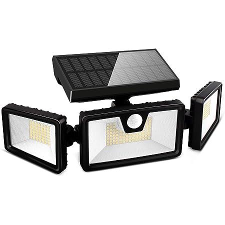 Otdair 188LED Solarlampen für Außen, IP65 Solar Bewegungsmelder Aussen, 3 Modi Solarlampen Für Außen mit Bewegungsmelder Garten Aussen Balkon 1 Stk Schwarz