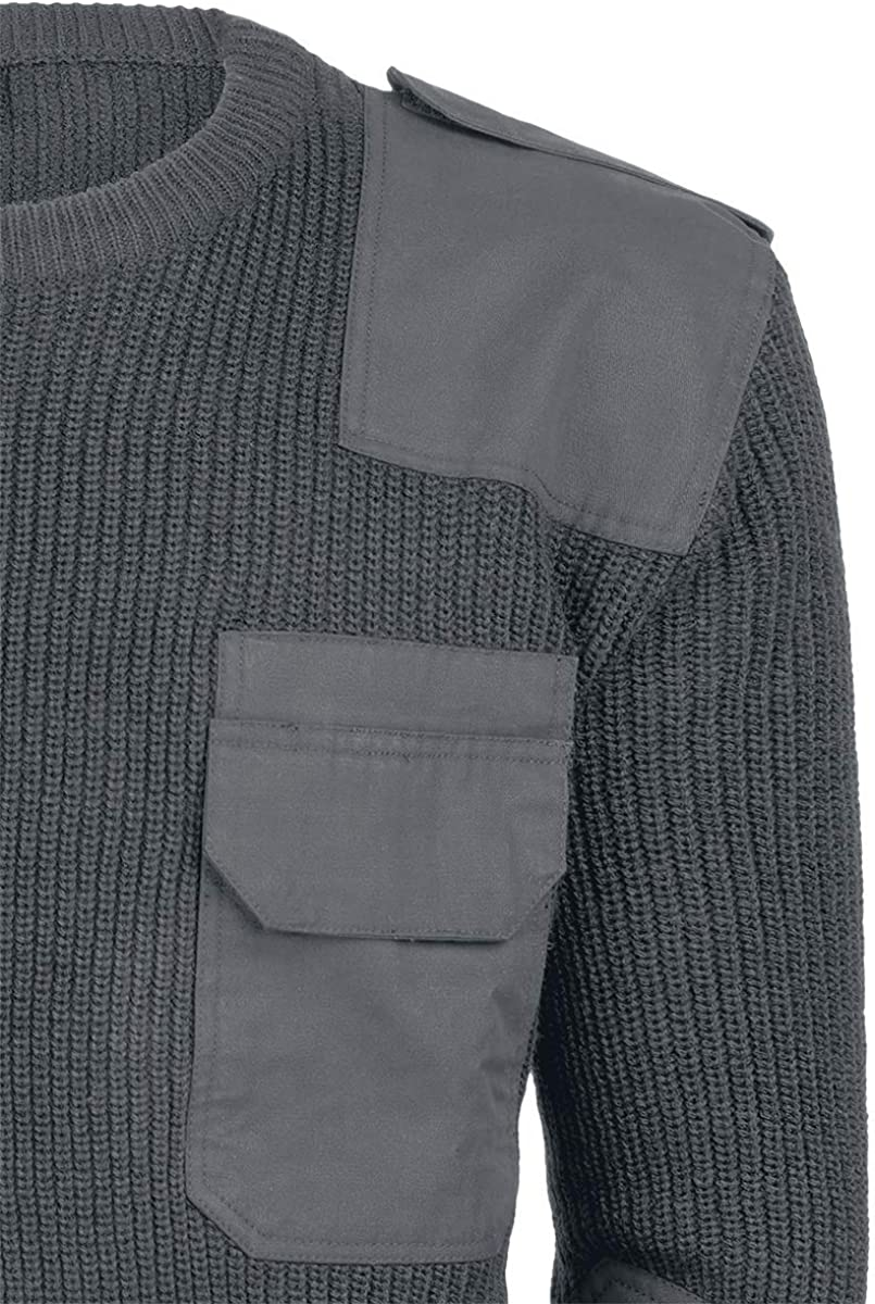 Brandit Men Pullover BW, Color:Anthracite, Size:M/48-50