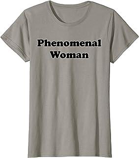 Womens Phenomenal Woman Shirt,Ladies Feminist AF Women's Equality T-Shirt