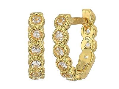 gorjana Madison Shimmer Huggies Earrings (Gold/White CZ) Earring