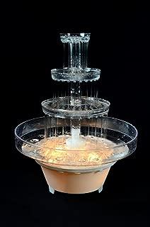 water fountain wedding cake