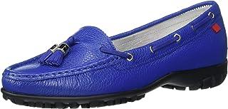Marc Joseph New York Women's Leather Made in Brazil Spring Street Golf Shoe, Royal blue tumbled grainy, 5.5 M US