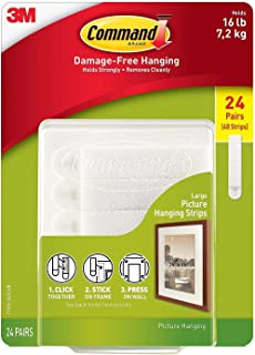 Command Picture & Frame Hanging Strips ZLFRPS , Large, 48 Pairs
