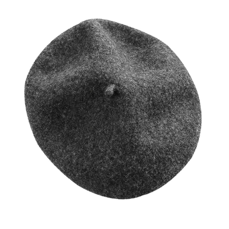 Adults Classic French Beret Hat Winter Wool Artist Plain Beanie Cap