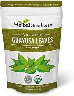 Guayusa Leaf Bulk Herbs - Clean Energy - Natural Caffeine - Performance, Mental Clarity & Focus - Fat Burner - Coffee & Ye...